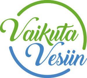 Vaikuta vesiin -logo.